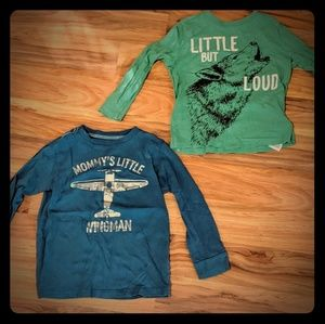 Carter's Long sleeve graphic tees, Size 4T